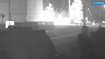 Video: Beelden van brandstichters coronateststraat