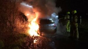 Fietsers loodsen brandweer naar autobrand aan Dijkvoetpad in Geulle
