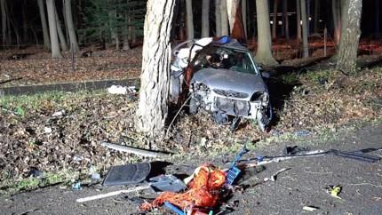 Auto botst tegen boom in Weert