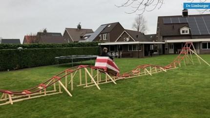 Jesper en Rik bouwen achtbaan in achtertuin: 'Dat heeft niemand'