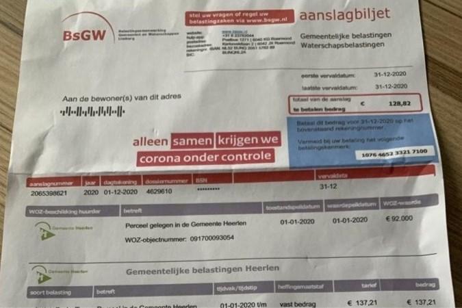 BsGW waarschuwt voor valse aanslagen lokale belastingen in Limburg
