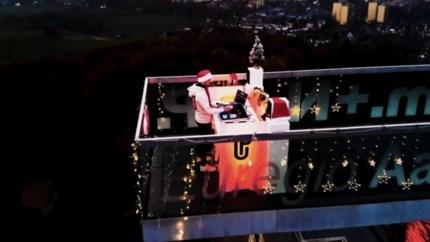 Video: Muzikale kerstwens van Limburgse deejay op 353 meter hoogte: 'Ik wilde voor een lichtpuntje zorgen'