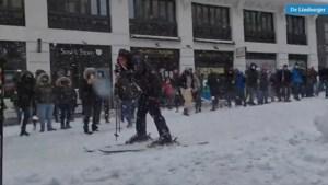 Video: Massaal sneeuwballengevecht in Madrid gefilmd