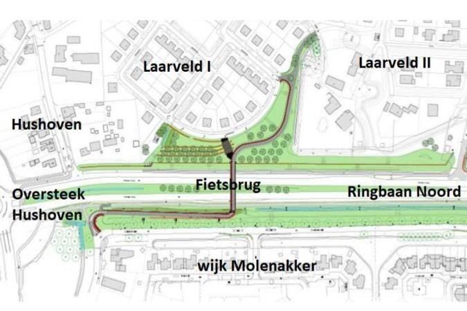 Bouw fietsbrug over Ringbaan Noord in Weert kan in maart beginnen