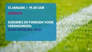 Huis van de Sport Limburg organiseert webinar over subsidieregeling BOSA