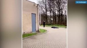 Video: Politie lost waarschuwingsschot bij aanhouding in Blerick