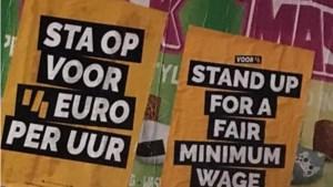 FNV de straat op voor hoger minimumloon
