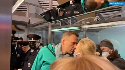 Russische oppositieleider Navalny vastgezet buiten Moskou, minister Blok maakt zich zorgen