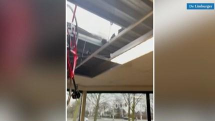 Video: Enorme ravage na inbraak via dak bij Bakker Racing Nederweert
