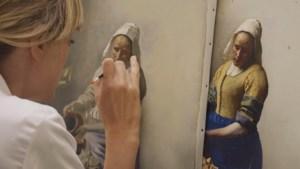 Nieuwe tv-reeks 'Het Geheim van de Meester' waarin acht meesterwerken worden nageschilderd: 'Het Melkmeisje' begint met vla'