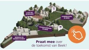 Beek lanceert online platform <I>Baek to the future</I> waar inwoners digitaal kunnen meepraten