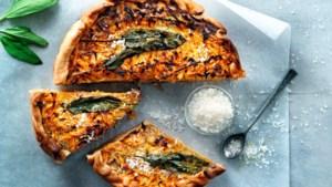 Recept Janneke Philippi: Geniet voor het laatst van de wintergroenten met deze hartige quiche