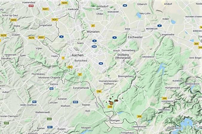 Serie aardbevingen in regio Aken: geen schade maar wel onrust bij de mensen