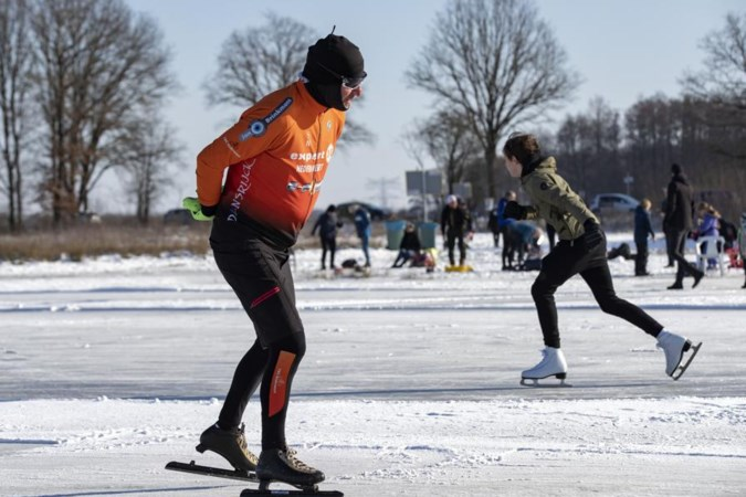 Schaatsen op Nederweerts ijs, dat is de reis uit Heerlen meer dan waard voor Fokko