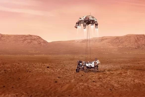 Amerikaanse verkenner Perseverance geland op Mars