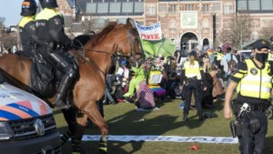 Demonstratie Museumplein na charge ME beëindigd