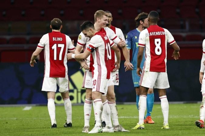 Perr Schuurs heeft met treffer aandeel in makkelijke zege Ajax