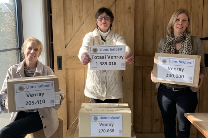 Lionsclub spaart 2750 pakken koffie voor Voedselbank Venray