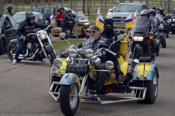 Bikers uit hele land komen naar Landgraaf om overleden collega op imposante wijze laatste eer te bewijzen
