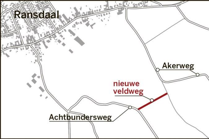 Nieuwe veldweg moet zwaar landbouwverkeer uit Ransdaal gaan weren