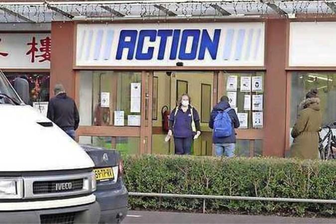 Winkelen mag bij Action maar je moet binnen 10 minuten weer weg zijn