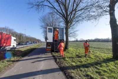 Veldwerk langs A2 tussen knooppunten Kerensheide en Het Vonderen