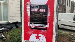 Posterprotest van MVV-supporters in binnenstad Maastricht: 'stem Angel-Side'