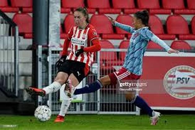 Romée Leuchter uit Schinveld bezorgt PSV dames met eerste doelpunt de overwinning