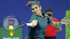 Rentree Roger Federer strandt in kwartfinales van Doha