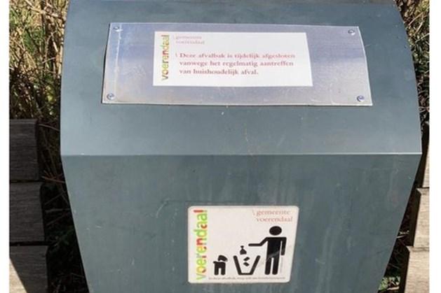 Prullenbakken gemeente Voerendaal kunnen tijdelijk niet worden gebruikt