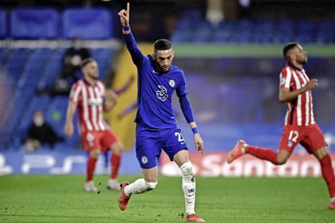 Hakim Ziyech schiet Chelsea naar kwartfinale Champions League