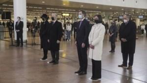 Premier en koning België herdenken aanslagen luchthaven Zaventem van vijf jaar geleden