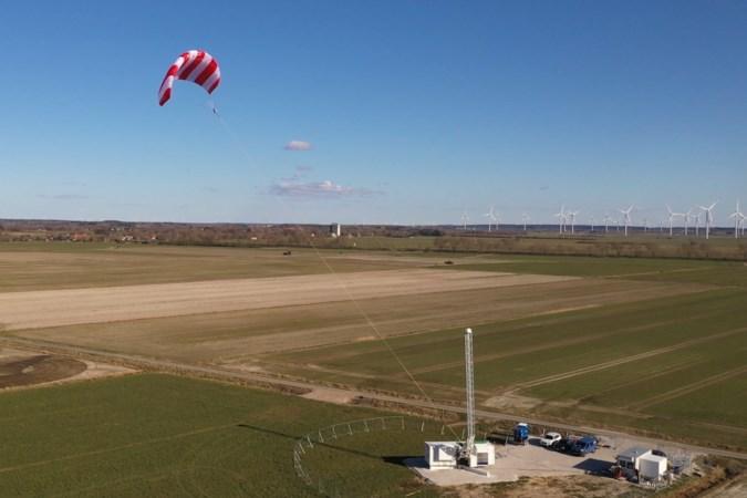 Vliegeren aan touw uit Heerlen als alternatief voor hoge windmolens