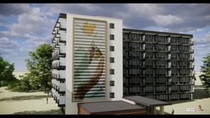 Video: Uniek in Nederland: metershoge schilderijen op zonnepanelen aan flatgevels in Sittard