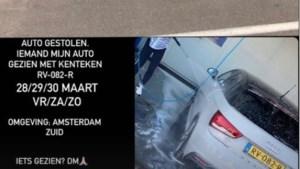 Auto vriendin Perr Schuurs gestolen in Amsterdam