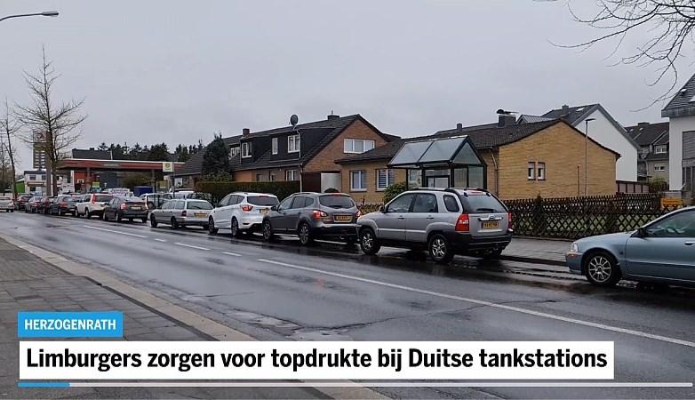 Limburgers zorgen voor topdrukte bij Duitse tankstations: nog even voordeel pakken zonder coronatest