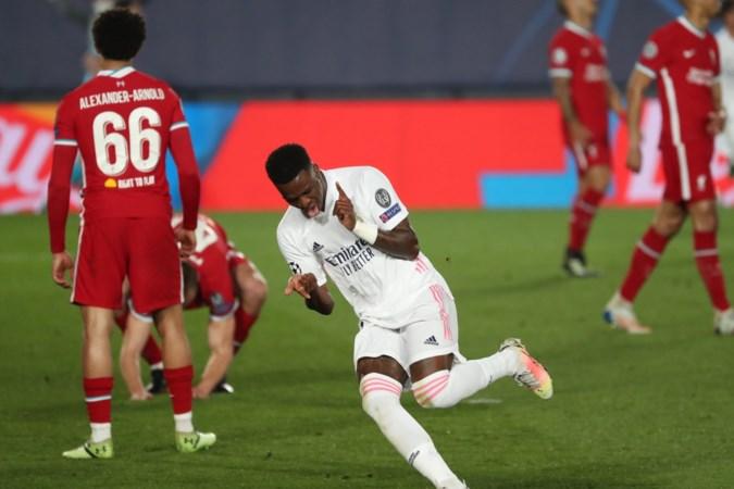 Vinícius leidt Real Madrid met twee treffers langs Liverpool