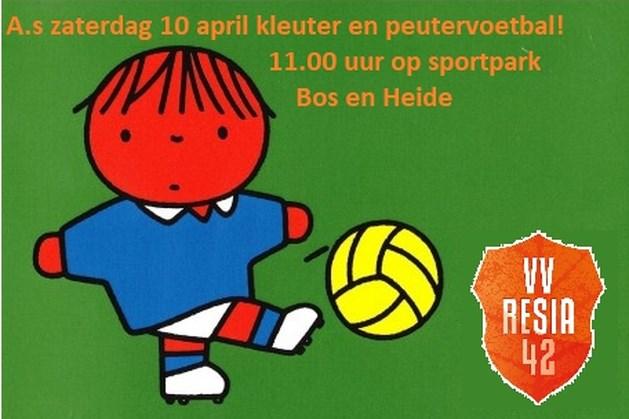 RESIA organiseert voetbal voor de allerkleinsten
