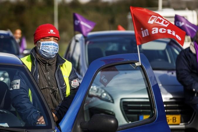 Staking, maar nog veel truckers op de weg: 'Het gaat om het signaal, niet om de aantallen'