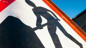 Een rijstrook afgesloten wegens onderhoud aan A2