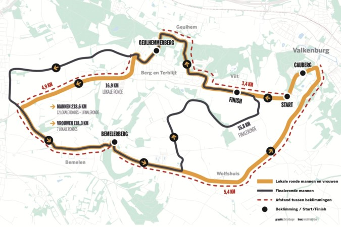 Krijgen we, met dertien kleine rondes, een andere Amstel Gold Race? 'Nog tachtig kilometer voelt anders dan nog vijf rondjes'