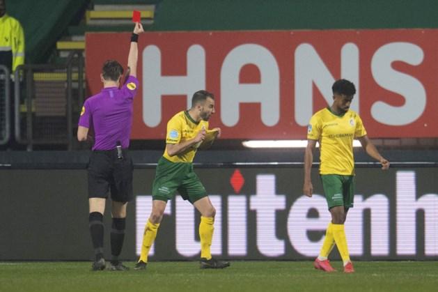Roel Janssen vrijgesproken; geen extra duel schorsing vanwege rode kaart