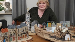 Marie-Louise uit Baarlo bouwt Spaanse miniatuurhuisjes van resthout met een 'poeperd' in de achtertuin