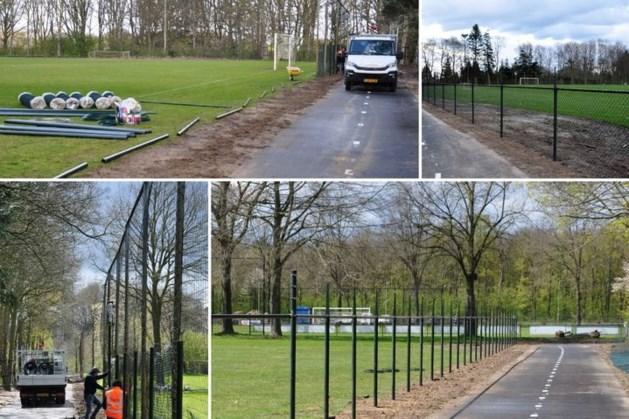 Voetbalclub Baarlo past afrastering sportpark De Meeren aan vanwege nieuw fietspad