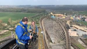 Eenmalig corona-uitje in Sevenum: beklim eens een houten achtbaan van 35 meter hoog