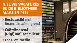 Bibliotheek Maas en Peel op zoek naar consulenten en bestuurslid