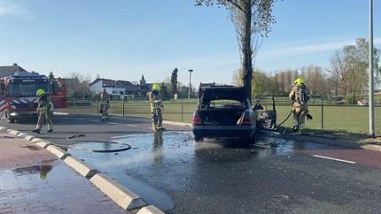 Auto brandt uit na botsing tegen boom in Blitterswijck: inzittenden vluchten