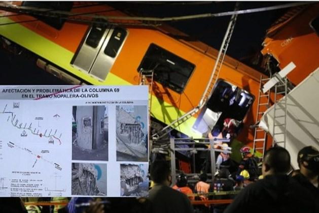 Zeker 20 doden en 50 gewonden door instorten metroviaduct Mexico