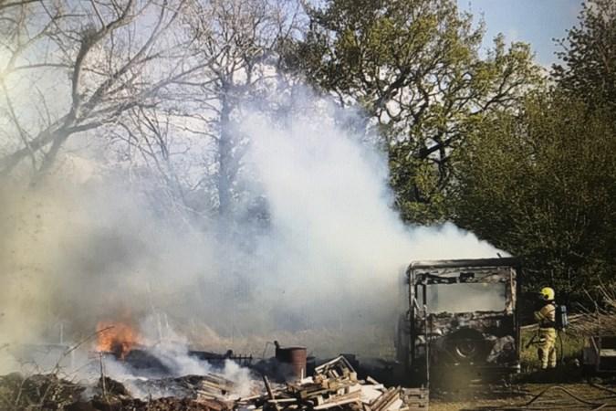 Caravan uitgebrand bij brand op Rolduc in Kerkrade