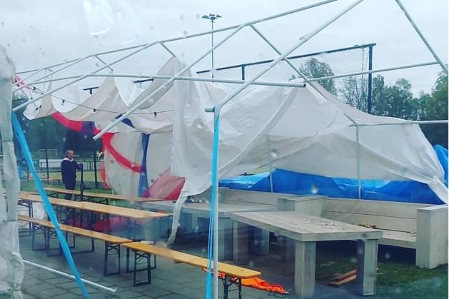 Tent hockeyclub Roermond vernield door wind